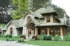 Craftsman Style House Plan - 4 Beds 3 Baths 2487 Sq/Ft Plan #120-179 Exterior - Front Elevation - Houseplans.com