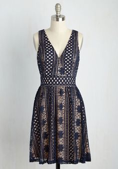 Promise to Astonish Dress. You told your date that tonights ensemble would be a surprise, but guaranteed itll be glam. #blue #modcloth
