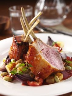 oven roasted rack of lamb  That's what I'm talk'n bout !!