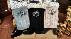 How cute are these!! Our monogrammed boot socks are trimmed in lace as shown..Just pick your color and thread color..Please give me monogram in