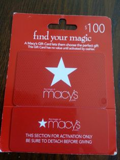 GET a Macy Gift Card with your participation!