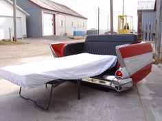 57 Bel-Air sofa bed...pretty cool chance to get to sleep over at Uncle Alan's