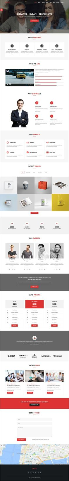 Ratio is a clean and stylish Material Design #Bootstrap Template for #agency and business #website with 6 homepage layouts download now➩ https://themeforest.net/item/ratio-material-design-agency-template/19136745?ref=Datasata