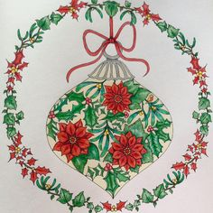Take a peek at this great artwork on Johanna Basford's Colouring Gallery! Coloring Book Art, Colouring Pages, Adult Coloring, Christmas Books, Magical Christmas, Christmas Ornament, Johanna Basford Secret Garden, Johanna Basford Coloring Book, Christmas Drawing