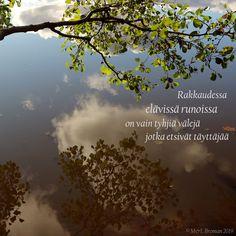 #runo #runokuva #rakkaus #runous #runoilija #suomeksi #järvi #heijastus #valokuva #valokuvaus Merlin, Desktop Screenshot, Clouds, Outdoor, Outdoors, Outdoor Games, The Great Outdoors, Cloud