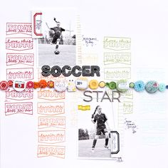 shopEvalicious.com: Soccer Star | Tutorial- stamping in rainbow