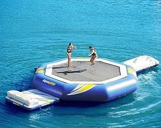 Water trampoline! ya so not gonna happen but still awesome