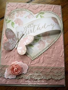 Beautiful! Basic Butterfly and Painted Petals from Stampin' Up!