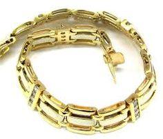 Image result for mens gold bracelets with diamonds