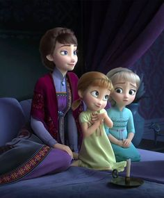 Elsa and Anna and their mother Frozen Disney, Princesa Disney Frozen, Film Disney, Frozen Movie, Anna Frozen, Frozen Party, Frozen Frozen, Frozen Birthday, Birthday Cake