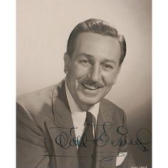 Beautiful Walt Disney photograph, signed by Walt. #WaltDisney #Disneyana