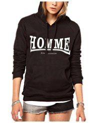 Image 1 of Zoe Karssen Homme Hoodie Long Hoodie, Sweater Hoodie, Black Hoodie, Cheap Hoodies, Sport Casual, I Love Fashion, Black Tops, What To Wear, Sweaters For Women