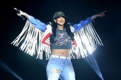 Mark Davis/Getty Images for Coachella -  Rihanna performs on Day 3 of the 2016 Coachella Valley Music & Arts Festival Weekend 1 at the Empire Polo Club on April 17, 2016 in Indio, California.