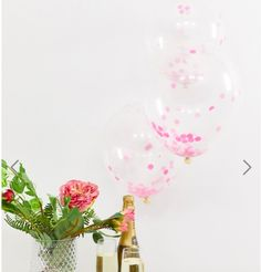 Shop Ginger Ray pink confetti balloons at ASOS. Confetti Balloons, Glass Vase, Asos, Baby Shower, Pink, Babyshower, Baby Showers, Pink Hair, Roses