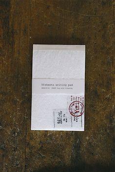 Monotone Onion skin paper Notepad - 5 Patterns - 50 Sheets. by niconecozakkaya on Etsy