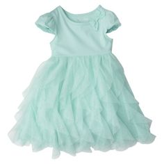 Cherokee® Infant Toddler Girls' Short-Sleeve Dress - Aqua.--would have been cute for the wedding!!
