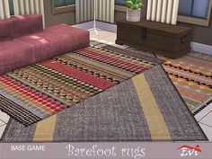 Rugs for every room Found in TSR Category 'Sims 4 Rug Recolors' Sims Community, Sims Resource, Electronic Art, Sims 4, Barefoot, Rugs, Objects, Home Decor, Farmhouse Rugs