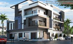 3d House Plans, Family House Plans, Modern House Plans, House Front Design, Small House Design, Modern House Design, Modern Bungalow Exterior, Dream House Exterior, Balcony Design