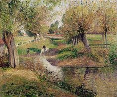 https://flic.kr/p/pQZNPP | Camille Pissarro - L'Abreuvoir, Éragny [1895] | [Louvre Museum, Paris - Oil on canvas, 55 x 65 cm]