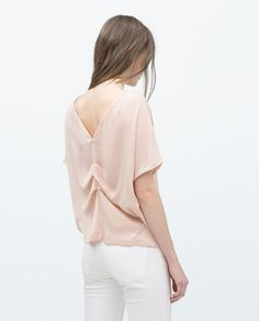 ZARA - NEW THIS WEEK - LOW BACKED SHIMMER TOP