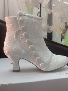 Ivory Bridal Wedding Boots by SugarandSpiceUK on Etsy, £100.00