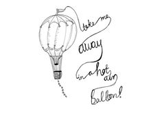 Take Me Away in a Hot Air-balloon Illustration by AdriannesDesigns