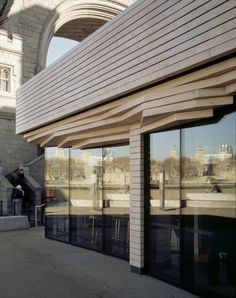 Bloomsbury Square Pavilion showing facade detail and glazing