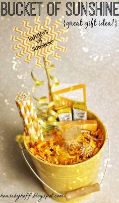 Bucket of Sunshine!  {Great Gift Idea!}