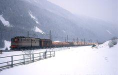 Rail transport across the Brenner Pass at Pflersch http://en.wikipedia.org/wiki/File:FerroviaDelBrenneroE645aFleres.jpg