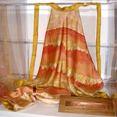 top mare - batik su seta - coordinato con stola