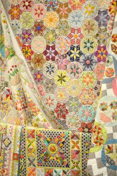 Quilt / Sześciokąty, kwiaty, gwiazdy