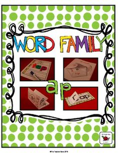 FREE 'ap' Word Family Pack. Awesome range of resources!