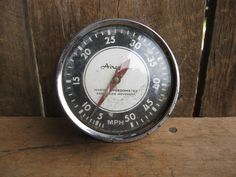 Vintage Airguide Boat Speedometer Hot Rod Rat Rod Accessory Dash Mount Perfect #Airgide
