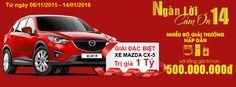 Khi mua sắm tại Điện Máy Thiên Hòa không phân biệt bất kỳ sản phẩm nào? trị giá nhỏ lớn ra sao? Bạn đều có cơ hội sở hữu xe Mazda CX-5 như hình. Mọi thắc mắc vui lòng liên hệ 1900 1829 hoặc truy cập website: http://www.dienmaythienhoa.vn/