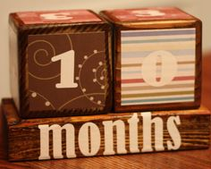 countdown weeks til birth and weeks/months after :) be cute for photo prop as well! Pregnancy Countdown, 1st Year, Baby Ideas, Photo Props, Birth, Babies, Friends, Unique Jewelry, Handmade Gifts