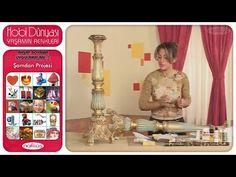 Ahşap Boyama Uygulamaları 1 - Şamdan Projesi - YouTube