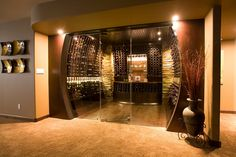 We are the world leader in custom wine cellars and custom wine racks that redefine the art and science of wine storage with our world class design team. Wine Cellar Basement, Wine Cellar Racks, Caves, Home Wine Cellars, Wine Cellar Design, Wood Entry Doors, Wine Display, Cigar Room, Wine Storage