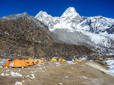 Ama Dablam Basecamp Himalaya Nepal.