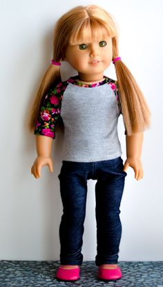 The Morgan skinny jeans/jeggings for American Girl 18 inch doll clothes cute pants, capris on Etsy, $10.00