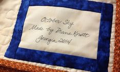 How to Label a Quilt with Your Name
