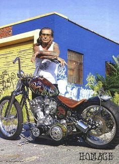 "**Indian Larry :""Every motorcycle is always a spiritual experience. Choppers specifically are a very integral part to my spirituality. When I go out for a ride or something I'm exactly in the moment. It's like meditation. I'm in the flow** RIP"