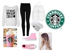 STARBUCKS!!! by aamna16 on Polyvore featuring polyvore, fashion, style, Wolford, Converse, Topshop and clothing