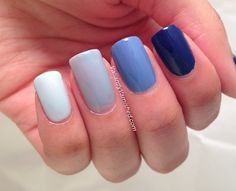 Valiantly Varnished: Blue Ombre Nails
