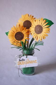 DIY Paper Sunflowers with your Silhouette by nicole mantooth for silhouette america design team