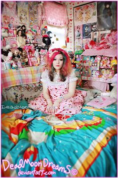This girl's kawaii room is an example how the obsession with cute things can effect someones life.
