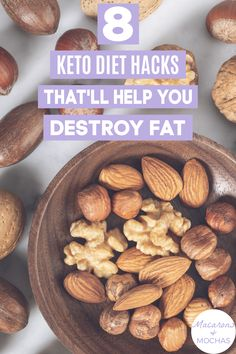 These Keto Diet hacks are THE BEST! I'm so happy I found these GREAT ketogenic diet tips! Now I have some great ways to lose weight and stick to the keto diet. #Macarons&Mochas #KetoHacks Diet Hacks, Diet Tips, Ways To Lose Weight, Mocha, Macarons, Ketogenic Diet, The Best, Almond, Fitness Goals