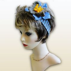 Hand Made Headband - Sky Blue Lily, Paradis Terrestre - Luxury British Made Accessories & Homeware