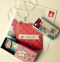 """""""kerst in een doosje"""" gemaakt voor Sasja, dec.2014"""