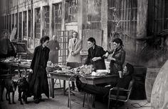 Lunchtime. Peter Lindbergh for Vogue Italia May 2015