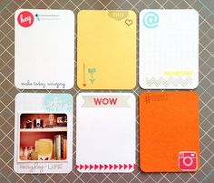 Make your own journaling cards fro #projectlife